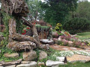 Ent beside a Hobbit Hole in Dorval Garden, Quebec - MontrealMadame.com